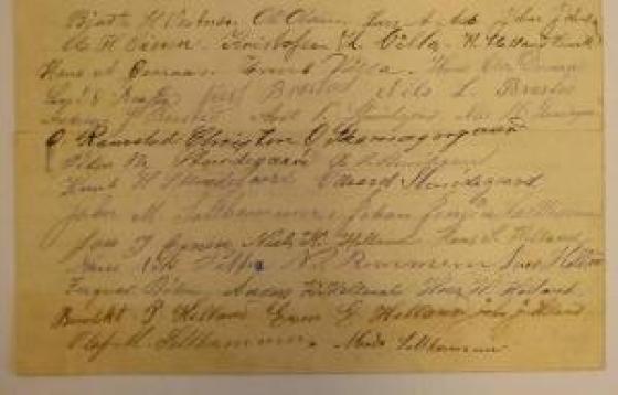 Ordensreglar i Vestnes frå 1899. Frå arkivet etter Vestnes kommune, Heradstyret.