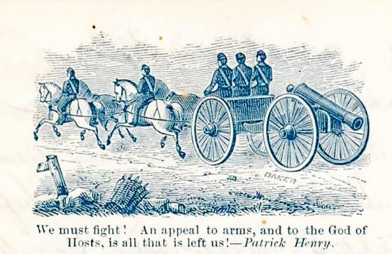 Brevhode på eit av breva Søren Johan Hansen skreiv frå slagmarka, 1862. Funne i arkivet etter Veøy kommune.