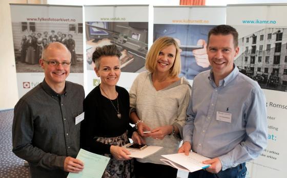 Blide foredragshaldarar: Knut Knudsen, Vilde Ronge, Inga Bolstad og Geir Håvard Ellingseter. Foto: Ragnar Albertsen