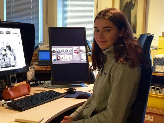 Hanne Rekdal Aasen, elev ved Fagerlia videregående skole. Foto: Åsta Vadset, IKAMR.