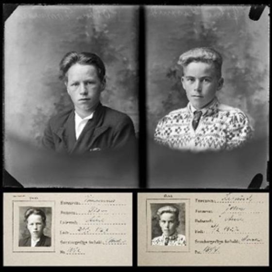 Frå utstillinga basert på grensebuarbevis frå Aure og Stemshaug. Foto: frå Hans Ormset sitt arkiv.