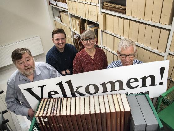 Gunnar Morsund, Andri Jónsson, Åsta Vadset og Arnstein Slinning ønsker velkomen til IKAMR førstkomande søndag. Foto: Ragnar Albertsen, FylkesFOTOarkivet.